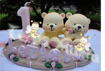 velas e topos de bolo