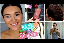 Back to school makeup and hair tutorials / Beauty
