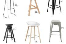 Island bench Bar stools