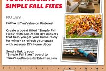 Simple Fall Fixes / Autumn DIY projects that help you get your home ready for winter or refresh your space with seasonal DIY home décor