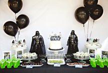 Decoração Star Wars / Ideias de decoração de quarto de bebê, quarto de criança e festa infantil com o tema Star Wars.
