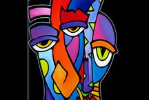 abstract faces
