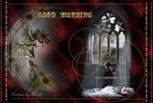 Good Morning Graphics / This is from my other blog https://manjoree.blogspot.com. The blog is all about Graphic Design. Created in Paintshop Pro and Photoshop by my husband. Just for pleasure of your eyes.