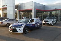 Milwaukee Brewers 2015 Season / We have Milwaukee Brewers fever!  Pictured here are a brand new 2015 Toyota Camry and 2015 Toyota Highlander, freshly wrapped & ready for the season.