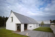 Modern Farm house / Single story with gabled roof