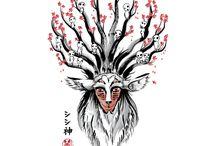 Studio Ghibli/Wald Tattoo
