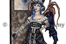 Steam punk fairies,animals,& others