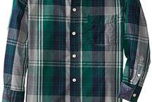 Nautica Big Boys' Plaid Woven Long Sleeve Shirt, Hunter, Medium.