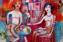 Rosa Comelles illustrations Women and reading
