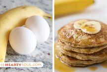 Banana & egg pancakes