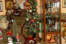 Trees from home tours / Assortment of decorated trees