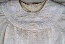 English Feather Stitch and Smocking embroidery
