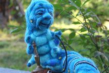 Raupe blau