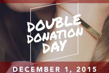 {Be Brave} for Double Donation Day / Double Donation Day is on Giving Tuesday, December 1st, 2015! With every purchase made within those 24 hours, $20 will be donated to the cause of your choice. / by Bravelets
