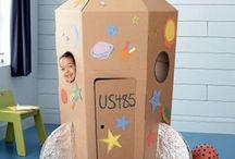 Construir com cartão / Com material reciclável construir objectos que vão proporcionar muita alegria às nossas crianças!