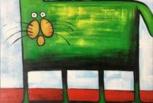 THE ANIMALS /  Contact us infoayaneart@gmail.com Visit us www.ayaneart.com #ayaneart #handmade   #pop #popart #vintage #tribal #orientalstyle  #abstract #trends #view #landscape #landscapes  #picture #painting #panel #canvas #oil colors #oil paint #art #artist #retrospective