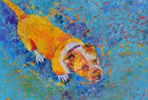 Custom portraits, dog paintings
