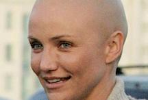 bald cap/natural makeup