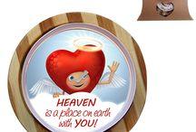 Valentinstag / Valentinstagsgeschenke, Überrasschungskerzen, nach 60 Minuten erscheint die Bild-Botschaft