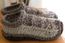 вязаные носки, следки