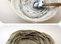Création avec corde , ficelle, cordage, fil , fibre naturel
