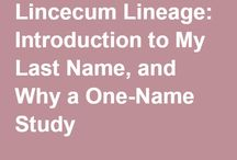 Lincecum Lineage / Board in conjunction with Lincecum Lineage blog -- a one-name study of the Lincecum surname, including variants.