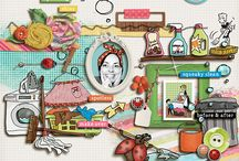 Household scrapbooking products / Digital scrapbooking products with a household / household chores theme