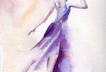 Dancer watercolor art