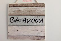 Bathroom Sign (Washroom, Powder Room or Toilet) / Bathroom, Washroom, powder Room or Toilet Sign, ZenGifts Quality Hand Made Wood Signs are 33% Off Sale, 5% to charity