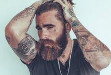 beard and tatoos