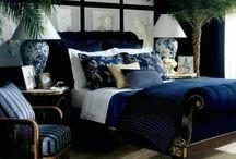 ◇ Bedroom Sea Blue British Colonial ◇