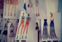 Moda Tasarım / Atölye İzmir moda tasarım derslerinden görseller