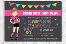 Birthday Invitation Soccer Girl