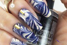 Nail art water marble / Nail art