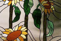 Sonnenblumen Bleiglasfenstereinlagen / http://at.sooscsilla.com/portfolio/sonnenblumen-bleiglasfenstereinlagen/ http://at.sooscsilla.com/herstellung-von-bleiglasfenster-und-bleiglastueren-fuer-privat-und-unternehmen/