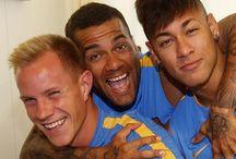 Neymar , Dani Alves i Ter Stegen