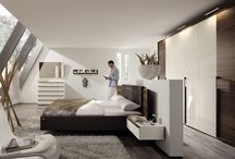 beds in middle of room