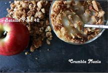 Les crumbles de la Bataille Food 42 / Toutes les belles recettes de crumbles des participants à la  quarante-deuxième Bataille Food sous l'égide de Keskonmangemaman