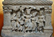 Gandhara Birth of Prince Shiddhartha / In 623 B.C. on a full-moon day of May,Vasanta-tide, when in India the trees were laden with leaf, flower, and fruit, and man, bird, and beast were in joyous mood, Queen Mahâmâyâ was travelling in state from Kapilavatthu to Devadaha, her parental home, according to the custom of the times, to give birth to her child. But that was not to be, for halfway between the two cities, in the beautiful Lumbini Grove, under the shade of a flowering Sal tree, she brought forth a son.