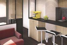 Appartement Paris / Renovation studios petites surfaces