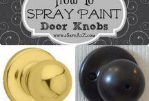 spray paint door nobs