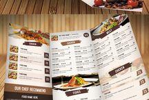 tablas de menu de comida