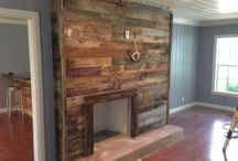 Fireplace / Fireplace reclaimed wood