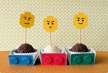Festas Lego / Papelarias produzidas pela Tuty com o tema Lego.