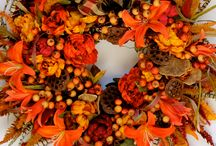 The Vibrance of Autumn! / www.etsy.com/shop/wreathsbybobette / by wreaths by bobette