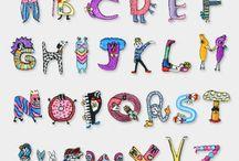 刺繍アルファベット