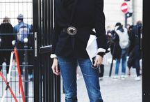 Black outfit street
