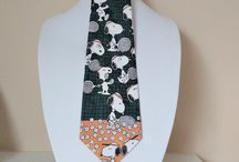 Vintage neck ties and cuff links