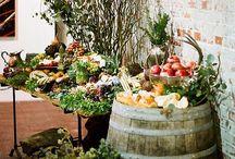 wine barrels displays