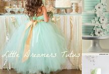 Bride,Bridesmaids, Flower girl Dresses,and Shoes / by Samantha Grant